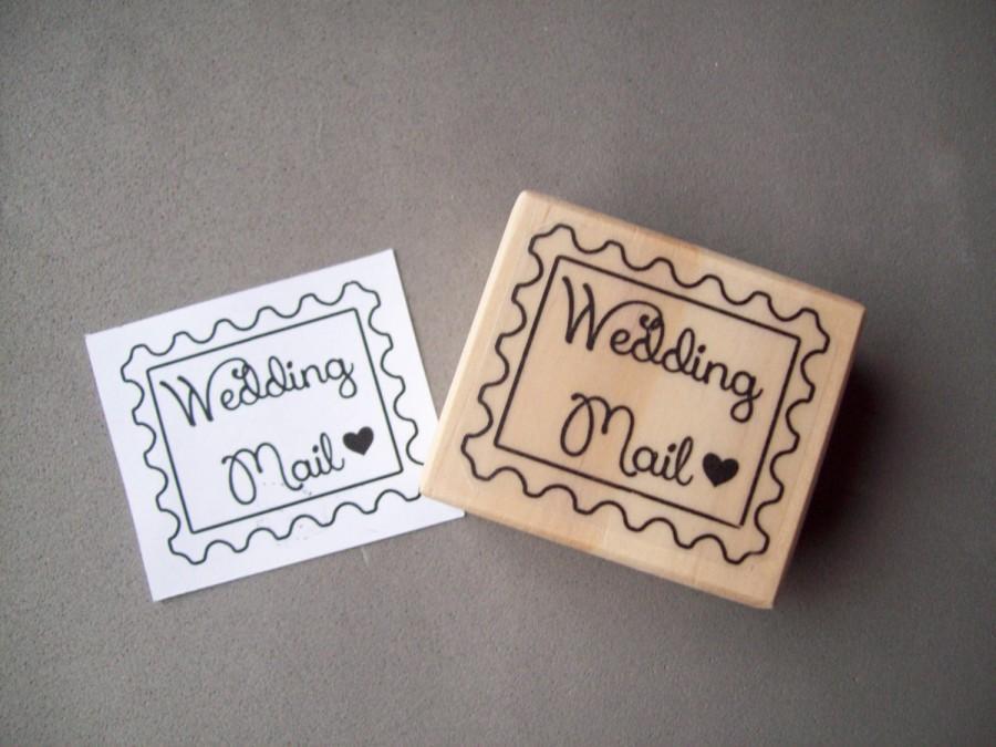 Wedding - Wedding Mail Stamp - Save the Dates Invitations Envelope Stamp
