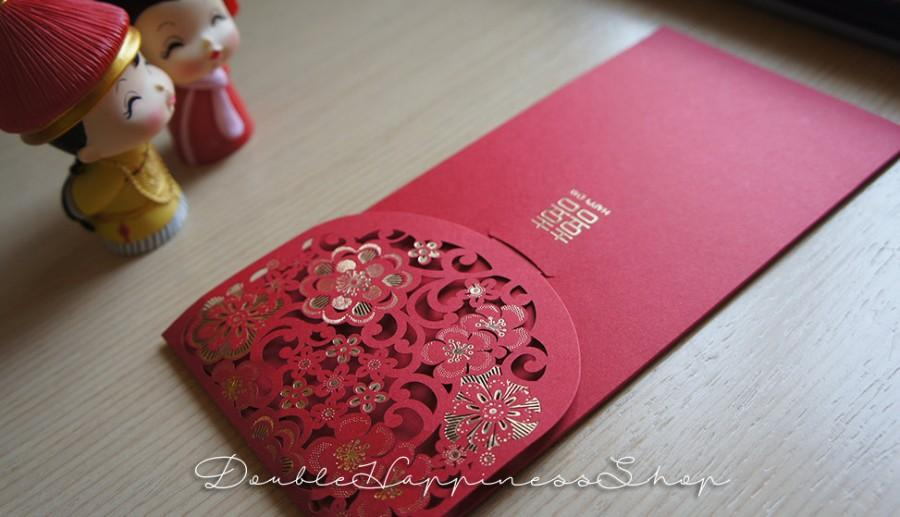 Chinese Wedding Long Tall Red Packet Envelope Money Lai See Double Hiness Qty 10 Rw7