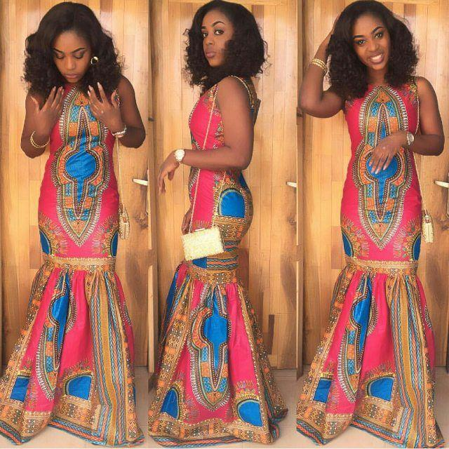 Hochzeit - Lovely Ankara Long Gown Design  -  DeZango Fashion Zone