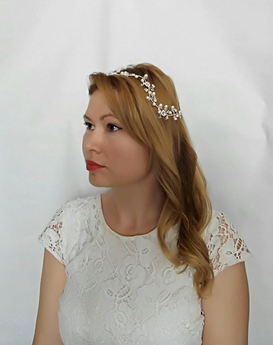 Mariage - Bridal Hair Piece, Bridal Hair Flower Hair Vine, Bridal Hair Vine, Hair Accessories, Pearl Hair Vine, Wedding Hair Vine, Braut Haarschmuck