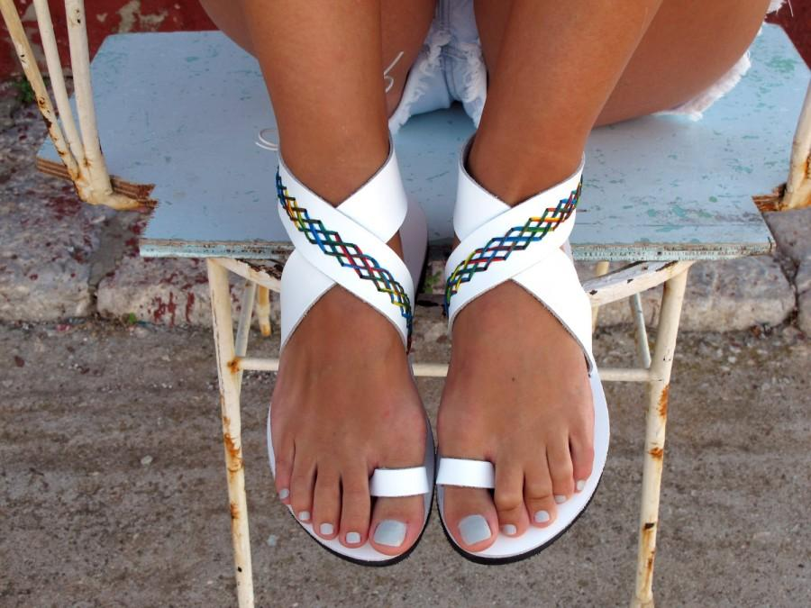 Wedding - Bohemian Leather Sandals, in Six Colors. Thalia - Free standard shipping
