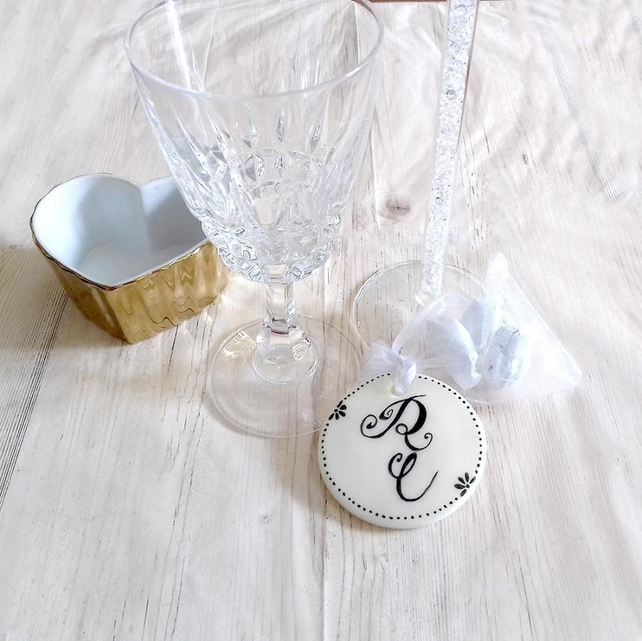 Wedding Favors Monogram Custom Organza White Bag Wedding Gifts For ...