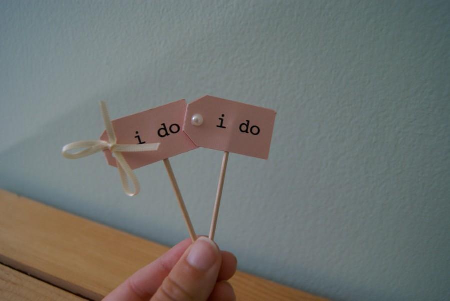 Mariage - fancy, chic i do. cupcake toppers.