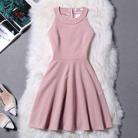 Wedding - Halter Prom Dress,Zipper Prom Dress