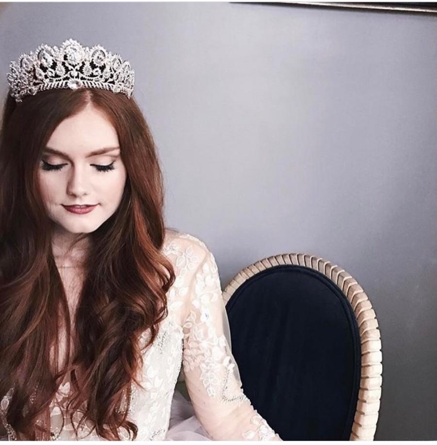 Mariage - Bridal Tiara Crystal Rose Gold Tiara -BELLE Swarovski Bridal Tiara, Crystal Wedding Crown, Rhinestone Tiara, Wedding Tiara, Diamante Crown