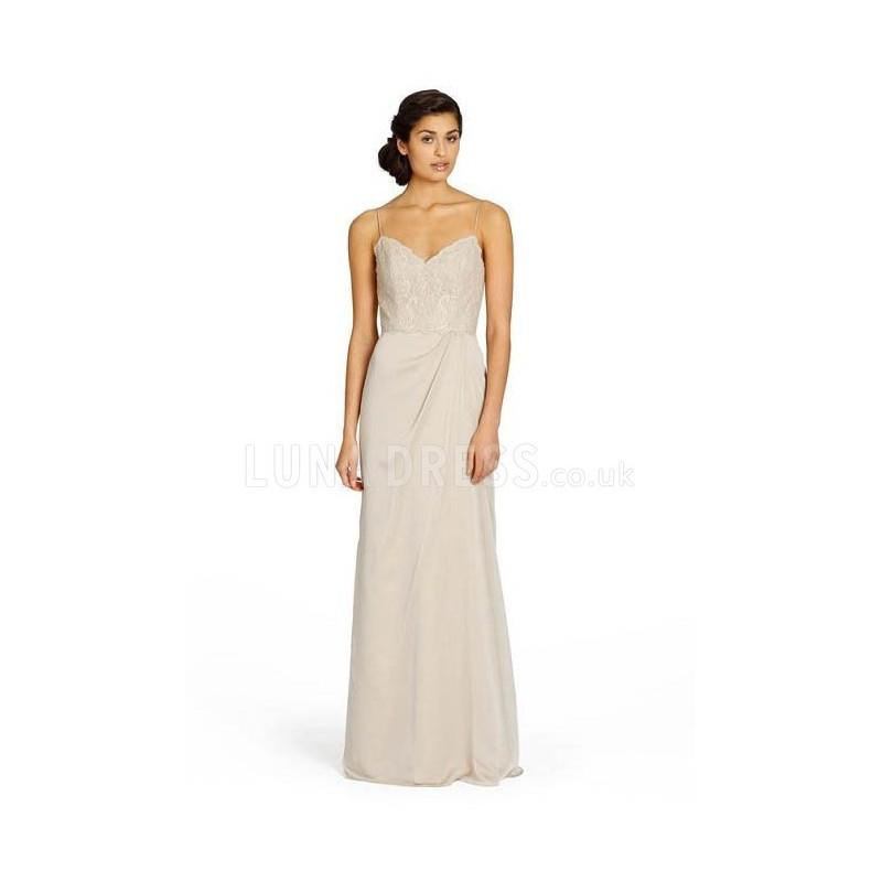 2c81a00b Spaghetti Straps Chiffon Floor Length Sheath/ Column Sleeveless Bridesmaid  - Compelling Wedding Dresses