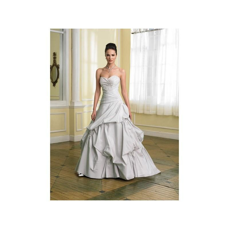 Wedding - Superb Princess Sweetheart Applique Beading Side-Draped Chapel Train Pleated Taffeta Bridal Gown In Canada Bridal Gowns Prices - dressosity.com