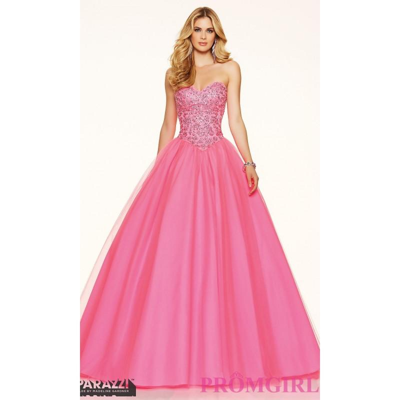 Tulle ball gown style strapless prom dress by mori lee for Mori lee discontinued wedding dresses