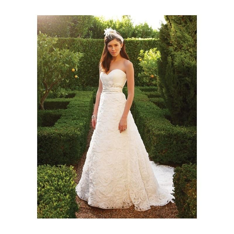 Hochzeit - Casablanca Bridal 2048 Rosette Wedding Dress - Crazy Sale Bridal Dresses