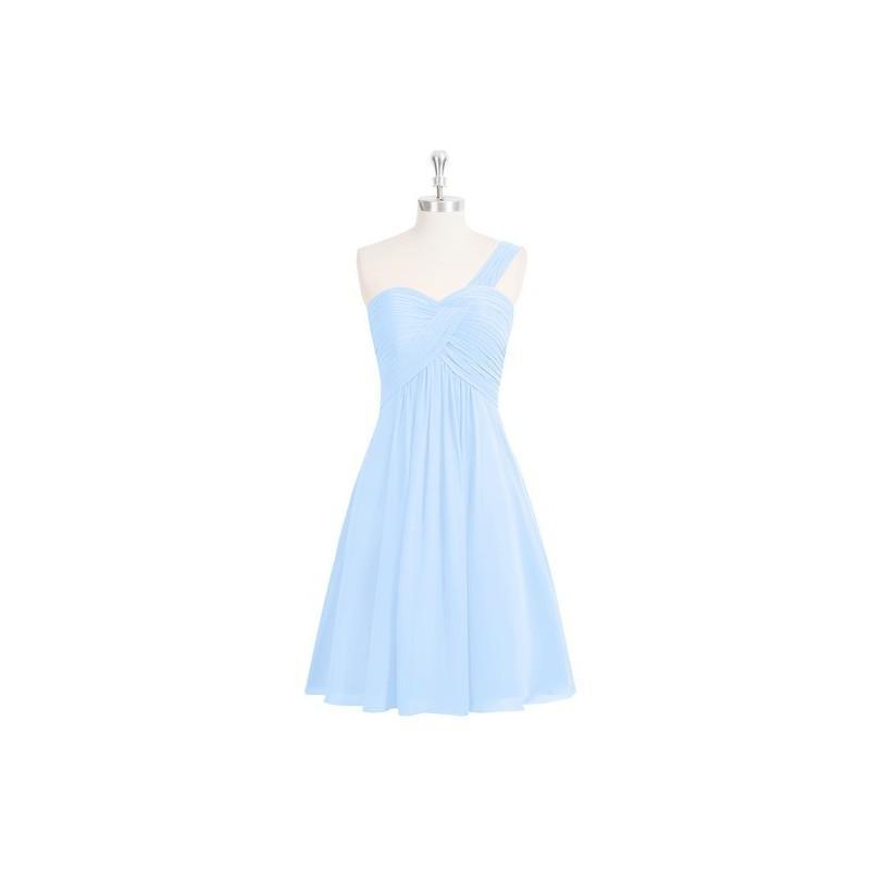 زفاف - Sky_blue Azazie Sariah - Knee Length Sweetheart Strap Detail Chiffon Dress - Cheap Gorgeous Bridesmaids Store