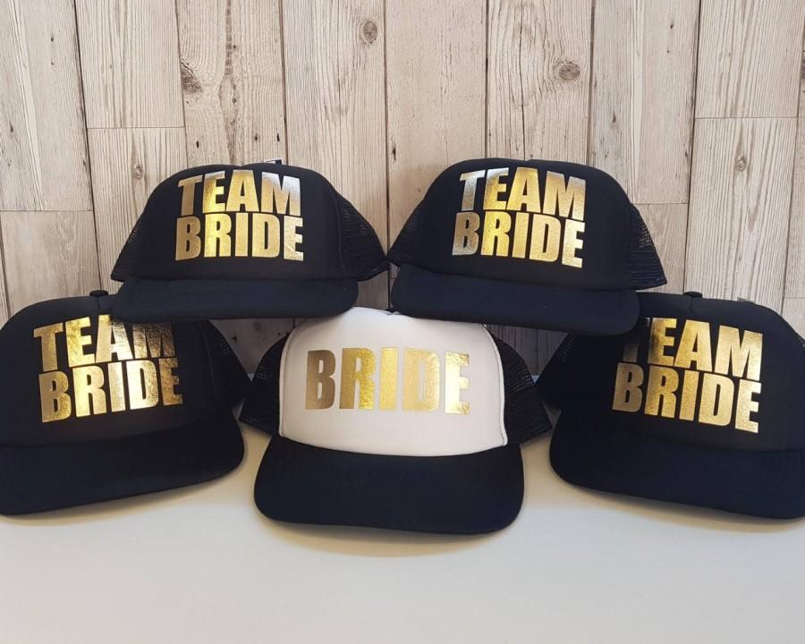 Свадьба - BRIDE,  TEAM BRIDE - Hen Party, Bachelorette Wedding Accessories- Wedding Hats, Caps Mesh Baseball Trucker Snapback Cap Hat