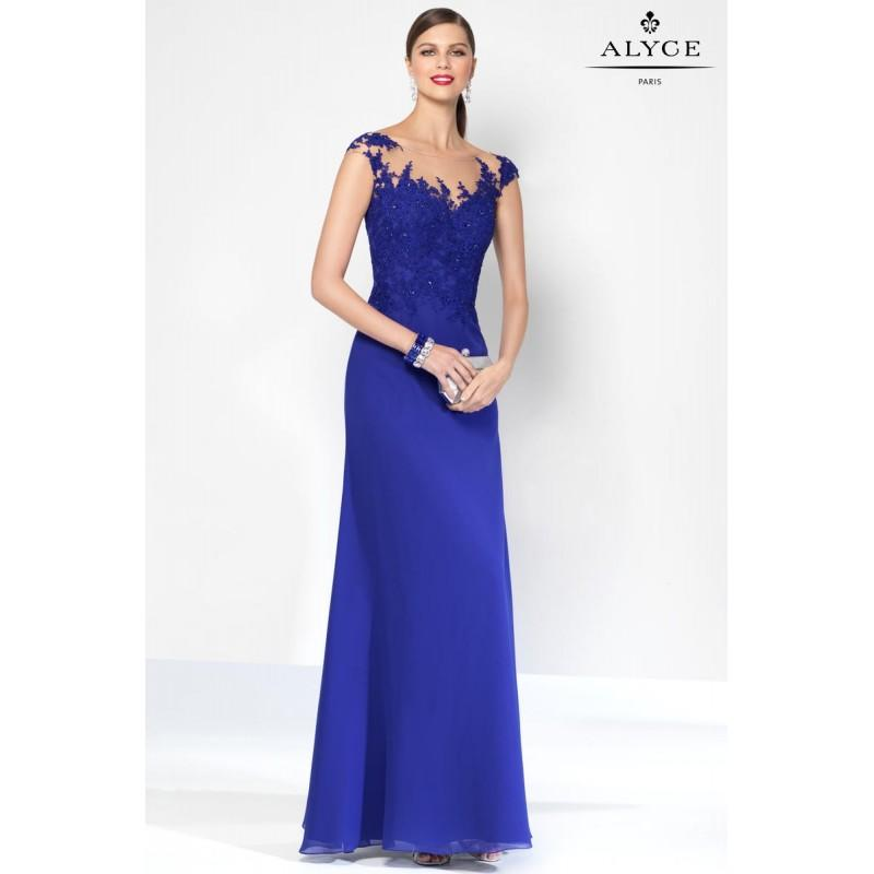 Hochzeit - Cobalt Alyce Black Label 5809 Alyce Paris Black Label - Rich Your Wedding Day
