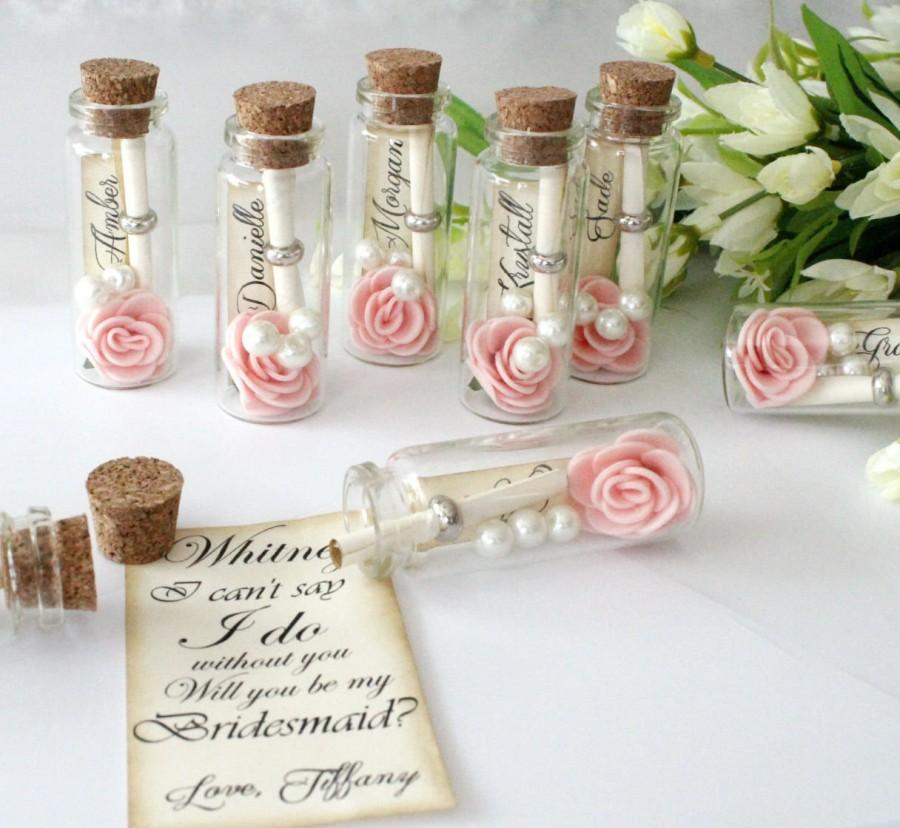 Will You Be My Bridesmaid - Message In A Bottle- Bridesmaid Cute ...