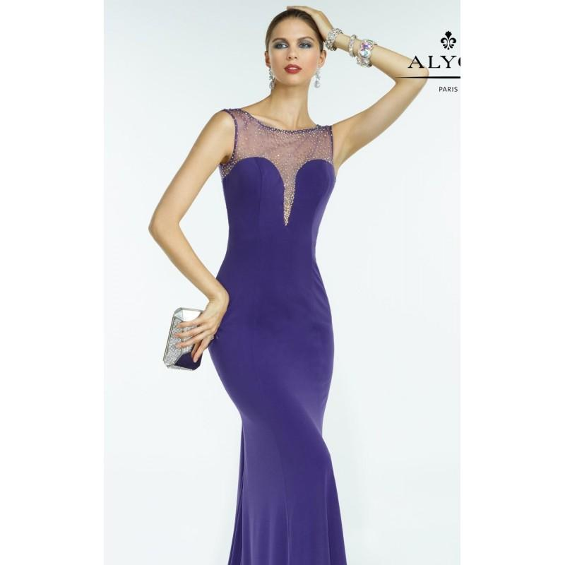 Свадьба - Purple Beaded Matte Jersey Gown by Alyce BDazzle - Color Your Classy Wardrobe
