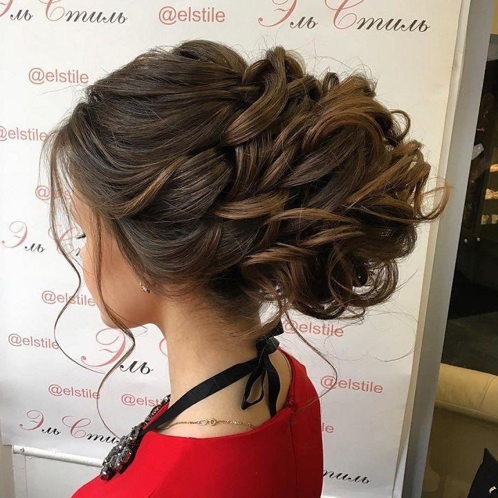 Mariage - This Beautiful Updo Wedding Hairstyle Perfect For Any Wedding Venue