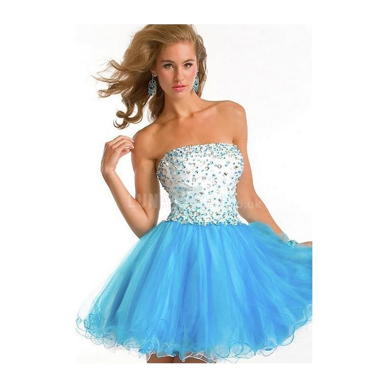 Fantastic Tulle Strapless Summer Baby Doll Cocktail Dresses