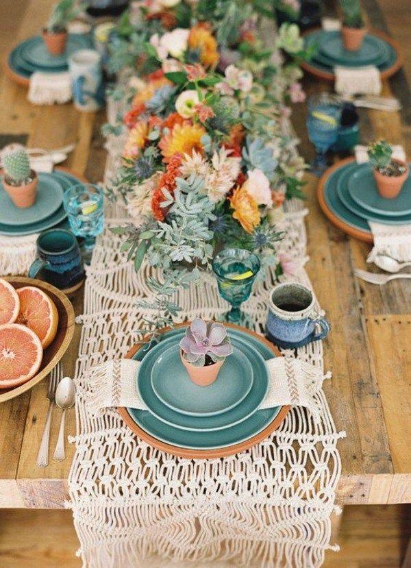 Wedding - Boho Cactus Tablescape Inspiration