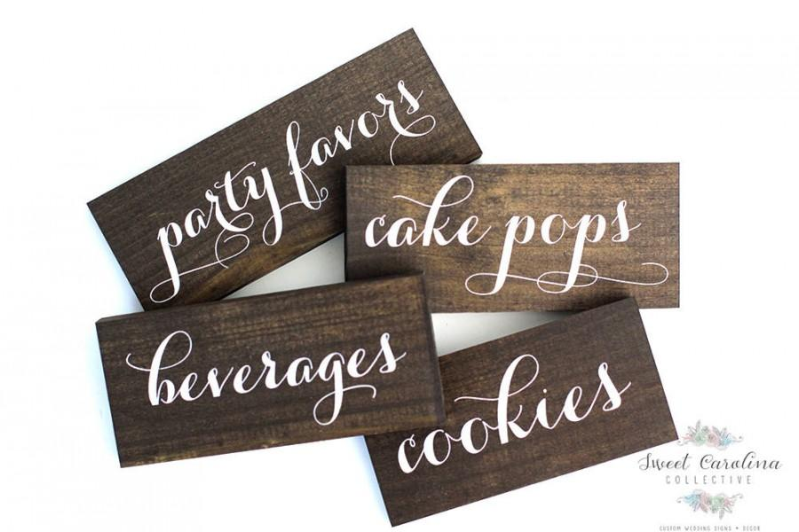Mariage - Dessert Table Wooden Labels