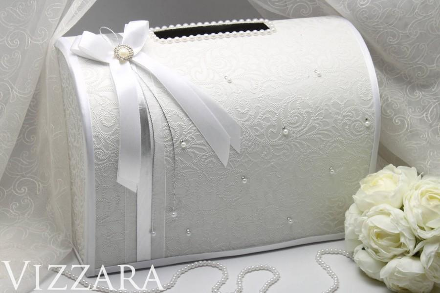 Mariage - Box For Envelopes wedding Elegant silver wedding Card Box Gift Wedding box Card wedding ideas Money Box silver money box Wedding post box