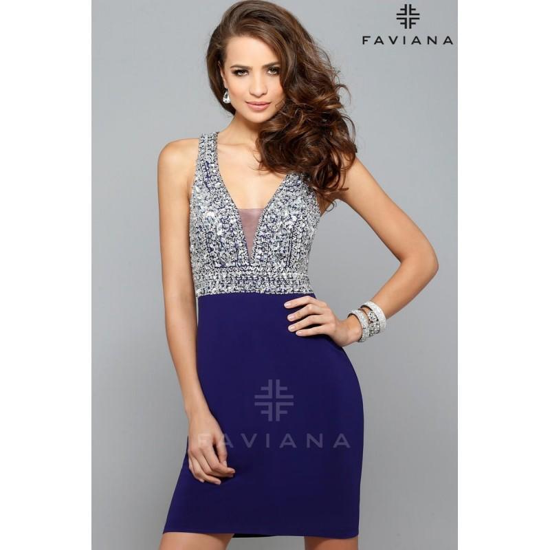 Свадьба - Purple Faviana S7667 - Rich Your Wedding Day