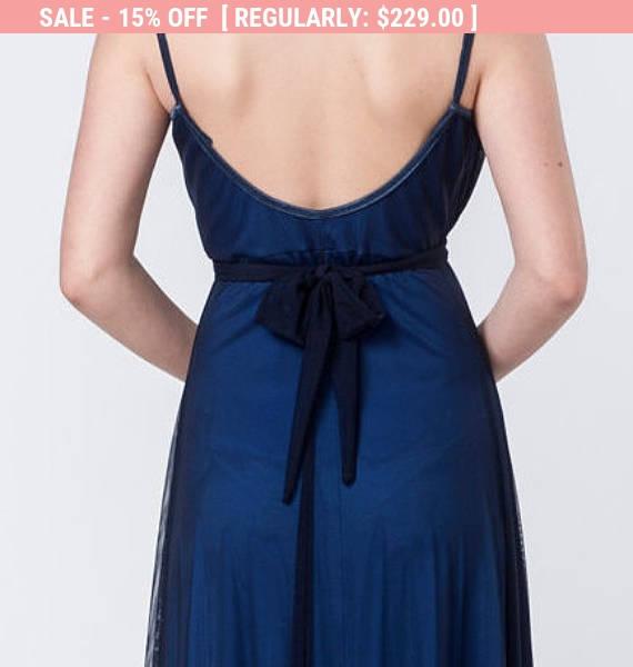 SALE A Line Dress, Plus Size Dress, Navy Blue Evening Dress ...