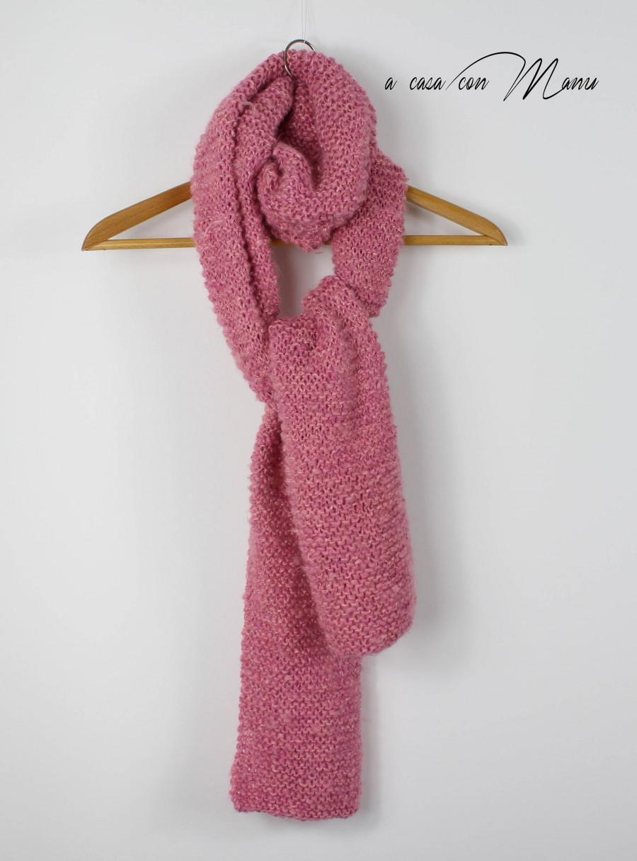 Свадьба - Sciarpa lunga fatta a mano, Hand-made long scarf, rosa, pink, accessori invernali, sciarpa a maglia, knitted scarf, idea regalo, per lei