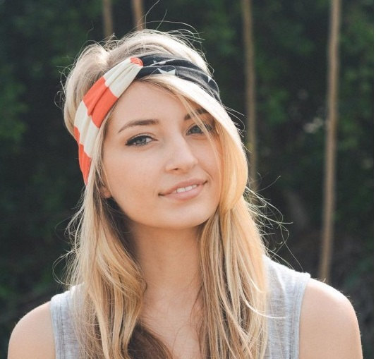 زفاف - american flag headband, july 4th headband, workout headband, turban headband, women headband, adult headband, Christmas gifts, Gift For Her