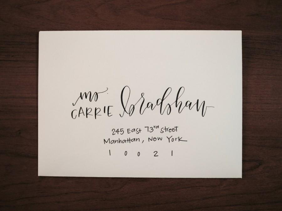 زفاف - Custom Modern Calligraphy Envelope Addressing