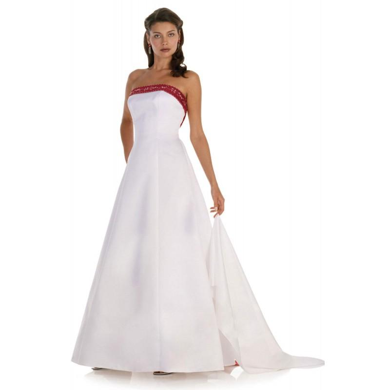 Hochzeit - Simple A-line Strapless Beading Floor-length Satin Bridesmaid Dresses - Dressesular.com
