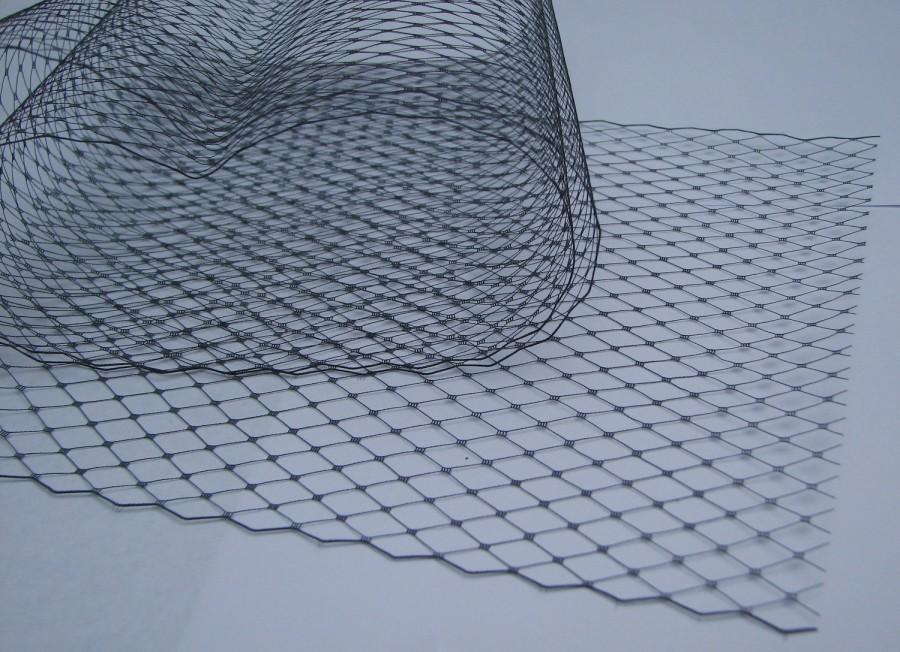 Hochzeit - Navy Blue  -  French netting fabric - 9 inch wide -  for DIY birdcage veils and fascinators