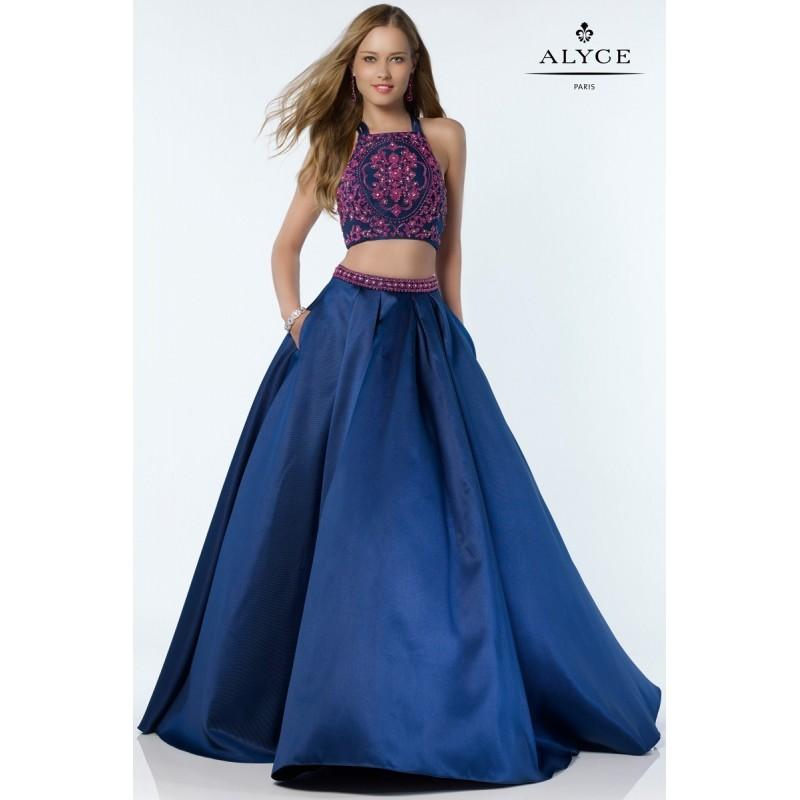 Alyce 6777 Prom Dress - 2 PC, Ball Gown, Crop Top Prom Long ...