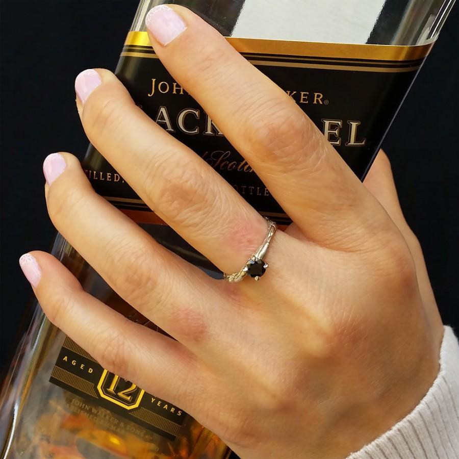 Unique Engagement Ring Black Diamond Ring Gothic Ring Alternative Gold Ring Black Diamond Engagement Ring Black Diamond White Gold 2725539 Weddbook