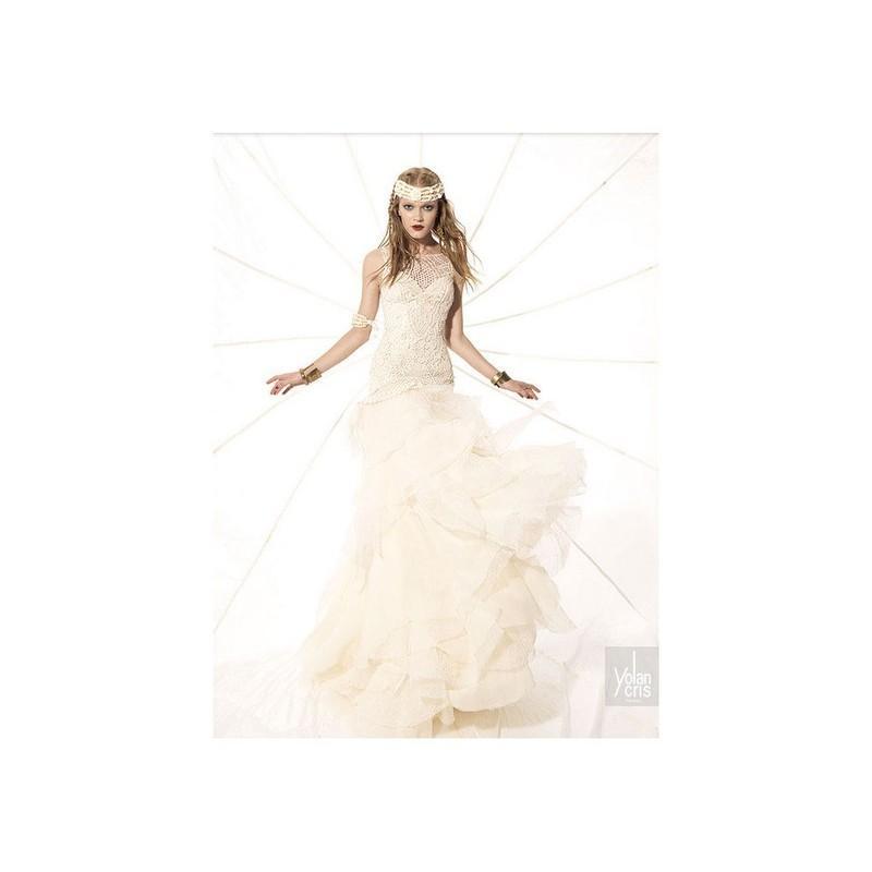 Wedding - Vestido de novia de YolanCris - 2015 Evasé Palabra de honor Vestido - Tienda nupcial con estilo del cordón