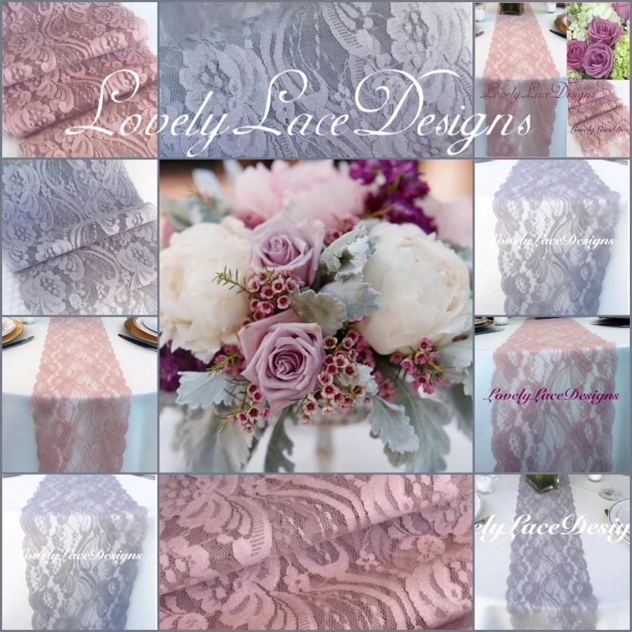 Wedding Decorlacetable Runnessilvergreymauvedusty Rose3ft 10ft