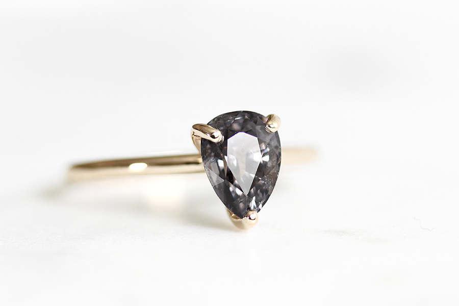 زفاف - 14k blue purple spinel ring, alternative engagement ring, eco friendly, ethical, handmade, recycled wedding ring