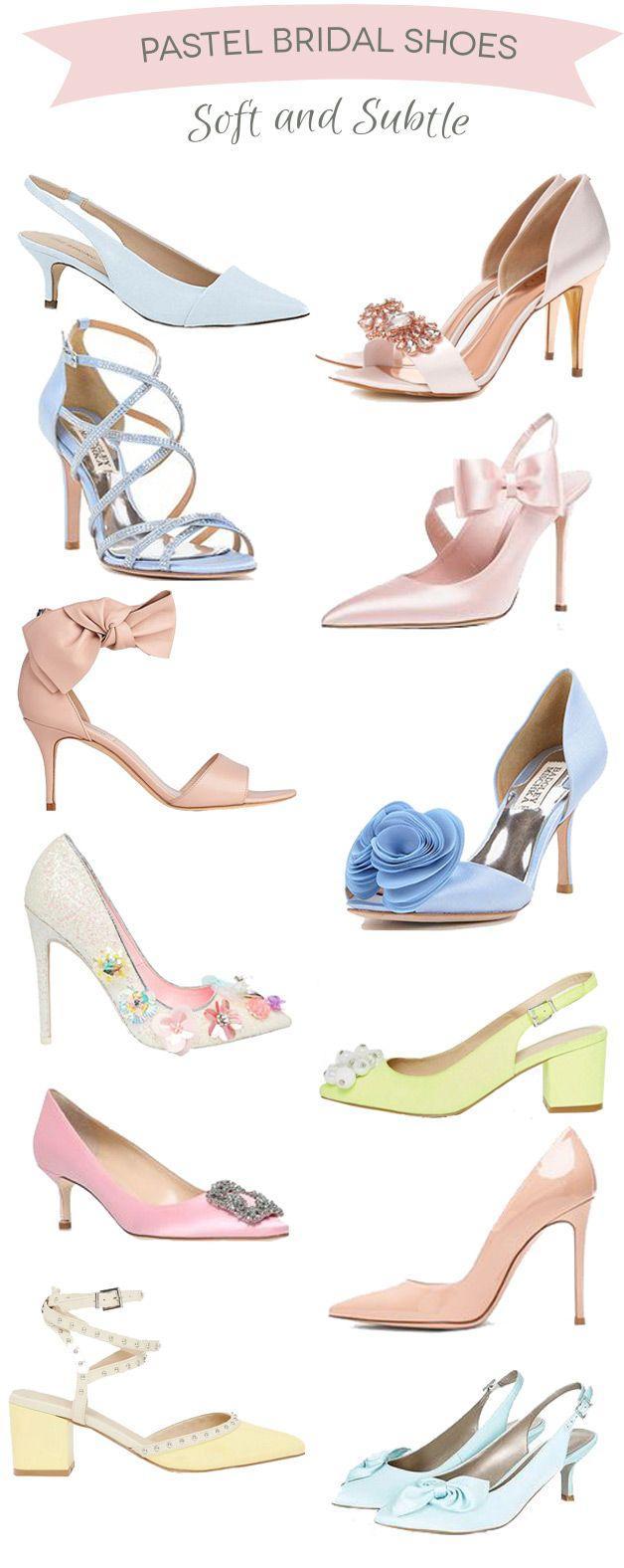 Hochzeit - Dreamy Shades: 12 Pretty Pastel Bridal Shoes
