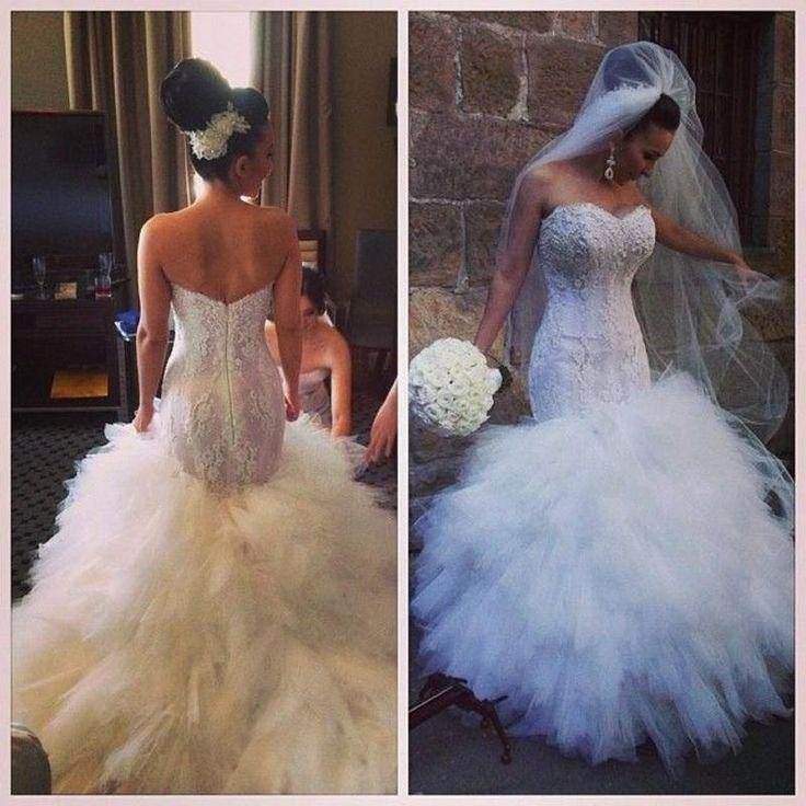 Cheap Wedding Dresses For Sale: Cheap 2016 Hot Sale Sexy Mermaid Wedding Dresses Lace Up