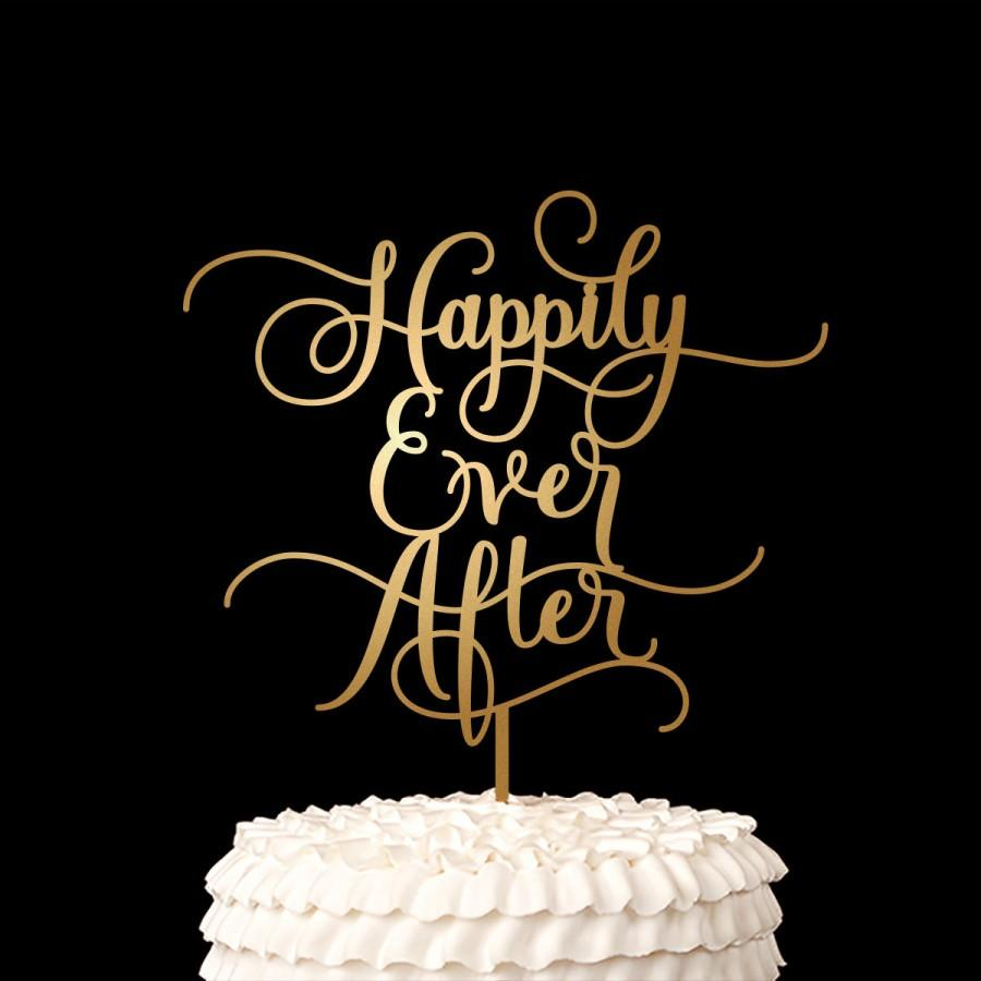 Hochzeit - Wedding Cake Topper - Happily Ever After - Fairytale Collection