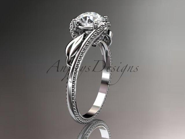 Mariage - Unique platinum  engagement ring ADLR322
