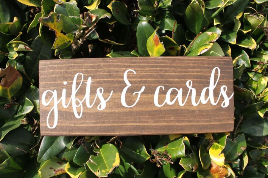 زفاف - Gifts and Cards Sign