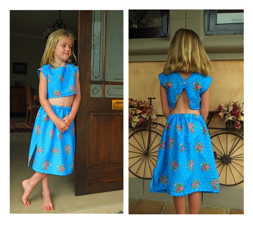 530b626eb1df Best little Girls Summer fashion Crop Top and Pull-on Skirt Pattern. Very  Easy and economic beach wedding flower-girl dress