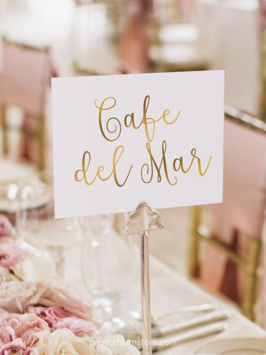 Gold Foil Table Names / Names Set - Two Sided - Gold Table Names ...