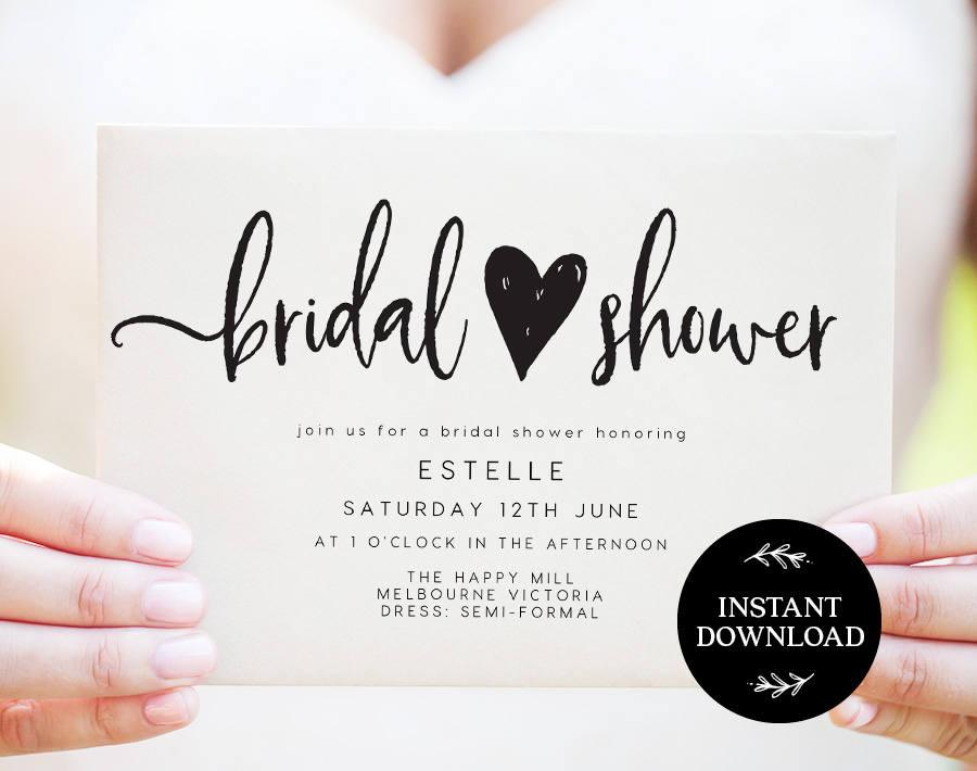 Mariage - Bridal Shower Invitation INSTANT DOWNLOAD,  Bridal Shower Invite, Before I do, Bachelorette Printable, Hens Night Invitation - Georgie