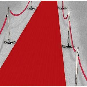 Wedding - DELUXE Fabric Hollywood Red Carpet Floor Runner/ Hollywood Party/Oscar Ceremony Party/Red Floor Runner/Red Carpet