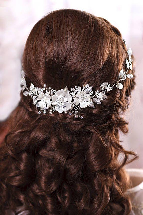 Wedding - Bridal Hair Piece Bridal Headband Wedding Head Band Bridal Hairpiece Bridal Headpiece Wedding Head Piece Pearl Hair Piece Bridal Hair Vine