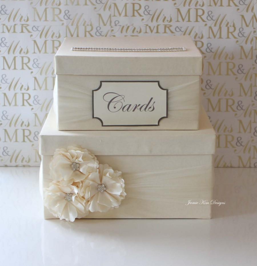 Mariage - Wedding Card Box, Money Box, Custom Card Box - Custom Made to Order