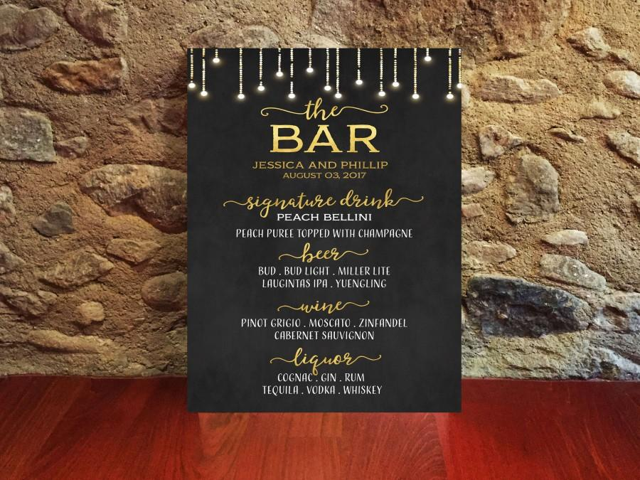 The Bar //// drinks list //// weddings //// copper //// copper wedding //// wedding signs
