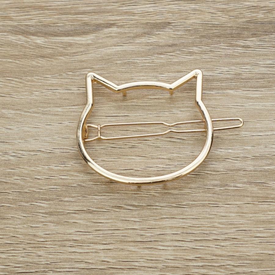 Mariage - Cat Bobby Pins, Gold Bobby Pins, Cute Bobby Pins, Cat Hair Clip, Cat hair Pins, Gold Hair Clip, Children Bobby Pins, Kitty Hair Clip