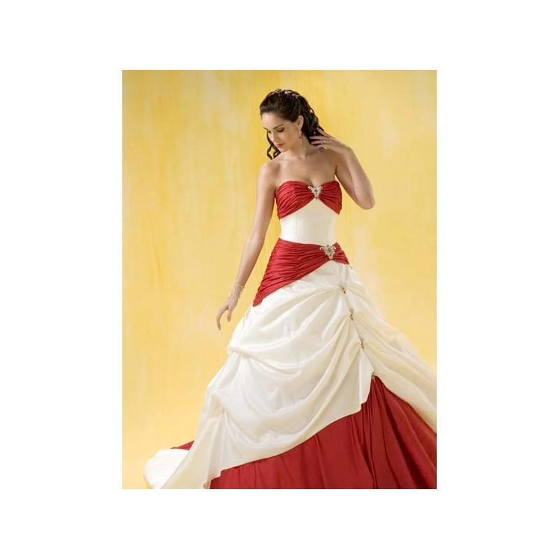 Wedding - Red & White Sweetheart Beading Taffeta Ball Gown Chapel Train Bridal Attire In Canada Wedding Dress Prices - dressosity.com