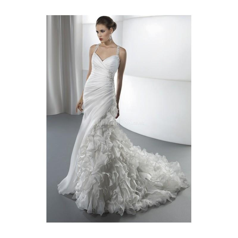 Свадьба - Gorgeous Fit N Flare Organza Floor Length Straps Wedding Dress With Ruffles - Compelling Wedding Dresses